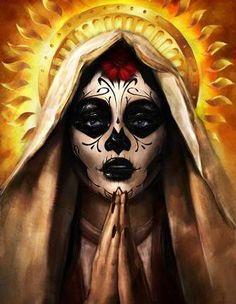 ✯ Artist Simon Hayag ✯ Day of the Dead , Dia de los Muertos, Sugar Skull Makeup, Sugar Skull Art, Sugar Skulls, Katrina Mexicana, Sylvia Ji, Los Muertos Tattoo, Catrina Tattoo, Dead Makeup, Chicano Art