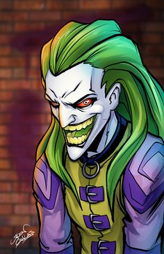 joker design from the batman animated series by glencanlas