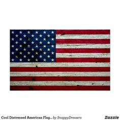 Cool Distressed American Flag Wood Rustic