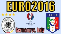 Germany vs. Italy EURO 2016 Simulation (ISS Pro Evolution / PSone)