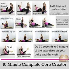 10 Minute Complete Core Creator - Healthy Fitness Exercises Back - PROJECT NEXT - Bodybuilding & Fitness Motivation + Inspiration