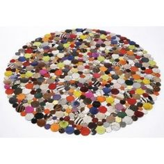 alfombra piel círculos 150