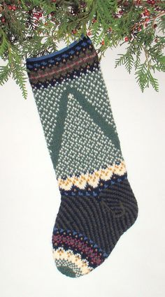 Hand-knit Christmas Stocking Fairy Tree by JudysColors on Etsy