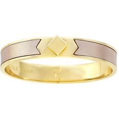 Cole Haan Golden Lights Leather Cuff Bracelet ($88) ❤ liked on Polyvore featuring jewelry, bracelets, gold, hinged cuff bracelet, leather cuff bracelet, leather bangle, cuff jewelry and gold tone cuff bracelet