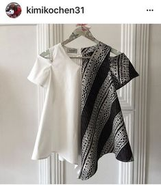 Love this cold shoulder top…. Blouse Batik, Batik Dress, Mode Batik, Tulle Skirt Tutorial, Batik Kebaya, How To Make Tutu, Batik Fashion, Dress Patterns, African Fashion