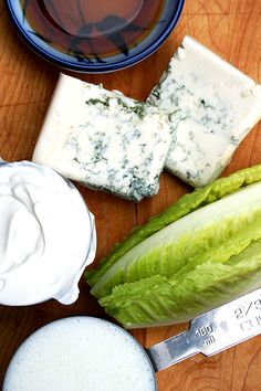 Blue Cheese Dressing _ Adapted from Sally Schneider's A New Way To Cook. This recipe is surprisingly light — made with buttermilk & reduced-fat sour cream — as far as creamy dressings go, & the addition of sherry vinegar gives it the perfect bite!