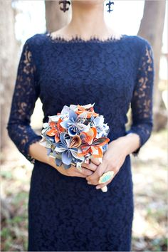 navy bridesmaids <-- For my turquoise, navy, an grey wedding!