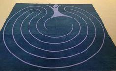 Dancing woman portable labyrinth