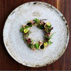 """Smoked eel salad""  By @musketmatt _________________________________ by tastefullyartistic"