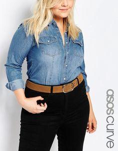 ASOS Curve ASOS CURVE Eyelet Double Prong Suede Jeans Belt >>> For more information, visit image link.