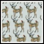 member's free reindeer and robin backing paper pack