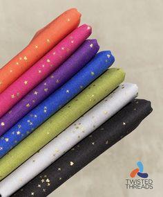 Purple Quilts, Andover Fabrics, Pink Purple, Blue, Fat Quarters, Green And Grey, Cotton Fabric, Rainbow, Metallic