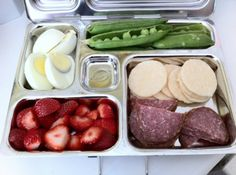 paleo lunch boxes ...whether you are following the paleo diet or not ..these are great ideas for healthy variety in lunch on the go