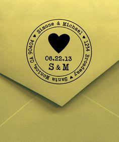 Heart Wedding Date Personalized Stamp by Designkandy #zulily #zulilyfinds