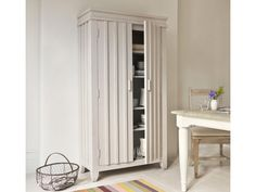 Our Rhubarb larder cupboard is perfect for storing food or it can be handy storage for crockery and linen. It is finished in our gorgeous scuffed grey. Kitchen Larder, Larder Cupboard, Kitchen Cupboards, Kitchen Sink, Free Standing Pantry, Modern Farmhouse Interiors, Dining Room Colors, Kitchen Storage Solutions, Wooden Kitchen