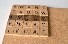 Scrabble Coasters Tutorial - okay, here it is, and not in Dutch. You can get bulk scrabble tiles off Amazon for pretty cheap. This is a super cute idea.