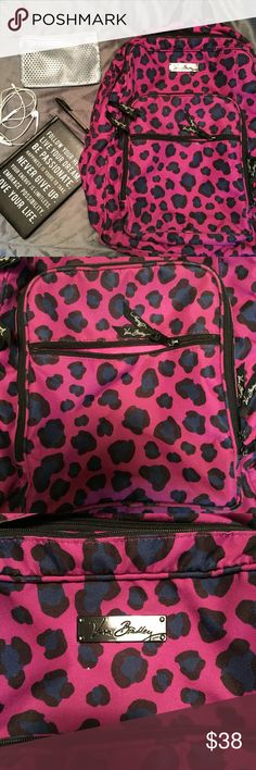 🔲Leopard Backpack🔲 🔲Product Description🔲 ▪️Stand out in the crowd with this bright purple and royal blue backpack  ▪️Front pocket offers storage for small items  ▪️Two main pouches for storage for large items ▪️Adjustable Straps  ▪️Side storage for beverages ▪️Material is water resistant ▪️Natural wear and tear visible only inside of the bag (pictured)  Measurements:  ▪️Available upon specified request    ⭐️ See Buyer Guarantee ⭐️  ⚡️Follow my insta for the non-Poshmark side of my…