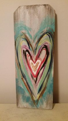 painted hearts on wood/painted hearts on fence boards/multi-colored hearts on wood/multi-colored painted hearts on wood/painted hearts art/ by CottonandMagnoliasUS on Etsy Fence Art, Fence Boards, Fence Board Crafts, Dog Fence, Painted Signs, Hand Painted, Painted Boards, Painted Wood Crafts, Painted Pebbles