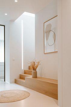 Home Room Design, Dream Home Design, Interior Design Living Room, House Design, My Dream Home, Flur Design, Interior Minimalista, House Stairs, Minimalist Home