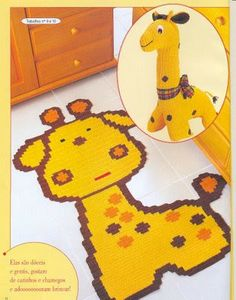 Edivana Croche: Carpet Giraffe
