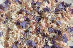 Soft lilac and pink make this vintage effect natural wedding confetti.