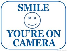 picture about Smile You're on Camera Sign Printable titled Pinterest