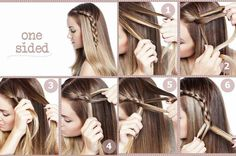 One side hair braid