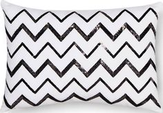 black sparkly accent pillows