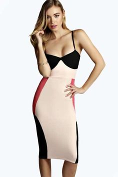 Love this strappy midi bodycon dress from boohoo.com