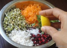 Sprouted moong salad is one of the nutritious and healthy option. I try making the salad protein rich, wholesome and power packed as it is my kids favorite.