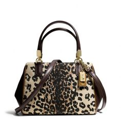 The Madison Mini Satchel In Ocelot Print Fabric from Coach