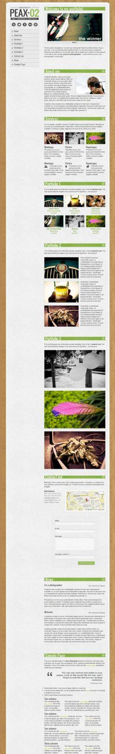 creative single page portfolio style premium WordPress theme
