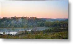 Foggy Valley Panorama Metal Print by Bonfire #Photography