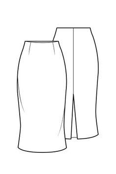 Falda con abertura trasera - Flat