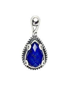 Blue Quartz & Sterling Silver Pear-Cut Pendant by Carolyn Pollack #zulily #zulilyfinds