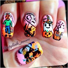 halloween by stylish_mom  #nail #nails #nailart