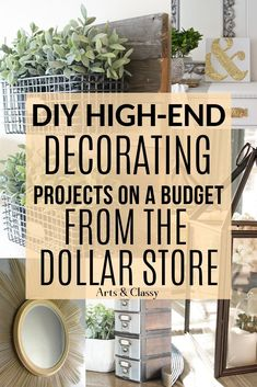 diy home decor on a budget dollar stores I decided to share some of the best DIY high-end home decorating on a budget from the Dollar Store that I could find to help spark inspiration. DIY home decor on a budget dollar store Dollar Store Hacks, Astuces Dollar Store, Dollar Stores, Dollar Tree Decor, Dollar Tree Crafts, Mug Diy, Diy Home Decor Rustic, Decor Diy, Decor Ideas