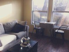 Minimalist, one bedroom, living room