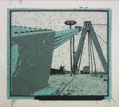 «Les archives de Monsieur X», Köln déc 64 2004-2005, 50 x 48 cm, collage sur transparents espacé