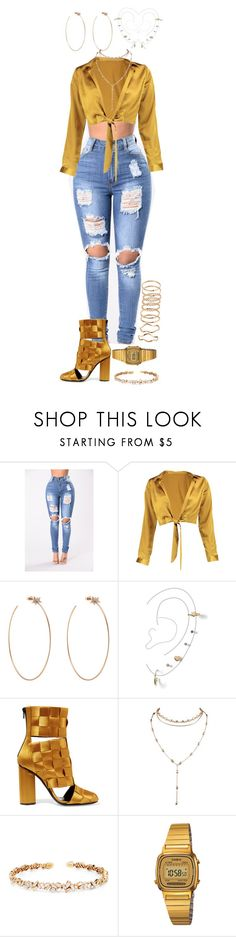 """Untitled #56"" by queen-gold on Polyvore featuring Boohoo, Diane Kordas, Miss Selfridge, Marco de Vincenzo, Suzanne Kalan and Casio"