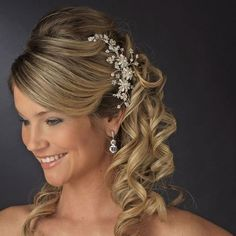 Ivory Pearl Diamante Rhinestone Crysal Gold Plated Bridal Tiara Hair Comb 7096 | eBay