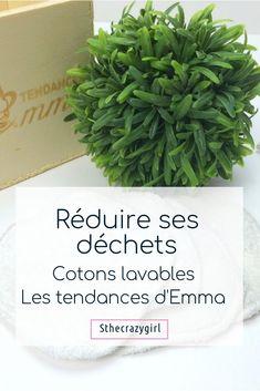 Pour réduire les déchets de ma salle de bain j'utilise mes cotons démaquillants de la marque les tendances d'Emma http://sthecrazygirl.blogspot.fr/2016/11/reduire-ses-dechets-avec-les-cotons.html #bio #blogbio #blog #beaute #beauty #green #astuces