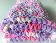 Pink Baby Blanket, Blanket Photo Prop, Baby Girl Blanket, Bernat Baby Blanket, Lilac BabyBlanket, Crochet Baby Blanket, Baby Shower Gift by CraftCreationsbyRose on Etsy