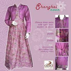Gamis Sanghainoon dan Sarimbit Sanghainoon Purple  Gamis Batik AZZA seri Shanghainoon berbahan katun polos dg motif batik Pekalongan yang cantik, gamis syar'i, dengan klasik style.   Infomasi order dan pemesanan:  Info & Order : 085729878381 (Whatsapp) Pin BB : 76807217