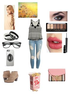 Amusement park day by swiftie1318 on Polyvore featuring polyvore, fashion, style, Wet Seal, Frame Denim, Burberry, Lipsy, Charlotte Tilbury, MAC Cosmetics and Hershesons