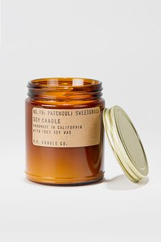 P.F. Candle Co. Patchouli Sweetgrass Soy Candle – Parc