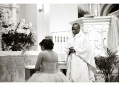 Quinceanera ceremony, prayers at the altar