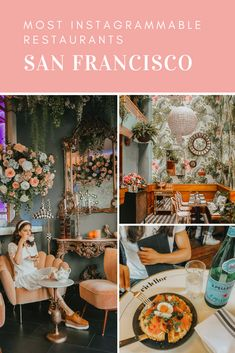 Love good food but also looking for a photo op? We're sharing our list of the Most Instagrammable San Francisco restaurants to visit. Weekend In San Francisco, San Francisco Travel Guide, Places In San Francisco, San Francisco Shopping, San Francisco Food, California Love, California Travel, Northern California, California Living