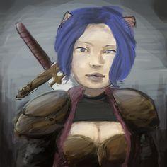 Portrait - Warrior Woman by HARuNIS.deviantart.com on @DeviantArt