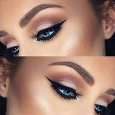 Christmas party eye make up Gorgeous Makeup, Pretty Makeup, Love Makeup, Makeup Inspo, Makeup Inspiration, Amazing Makeup, Makeup Ideas, Sleek Makeup, Makeup Geek